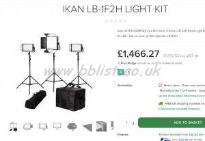 Ikan Lyra LB-1F2H Bi-Color 3-Point LED Soft Panel Light Kit