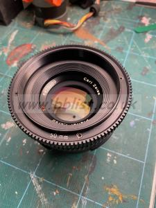 Zeiss 50mm lens T1.4 Optex re-house BNCR mount