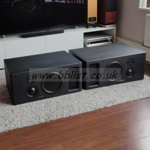 PMC IB1-S-A-III-C pair horizontal speakers - built in amps