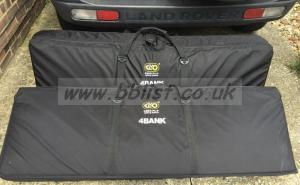 Two 4x 4ft Kinoflow, soft cases, daylight+ tungsten bulbs