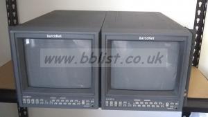 2x Barco ADVM-10 10inch CRT SDI Video Monitor Rack