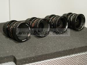 Zeiss Super 16 Mk II Lens Set and Flight Case
