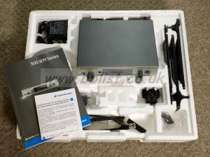 Sennheiser SR 300 IEM transmitter and accessories. GB block