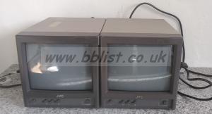 2x JVC TM-A10EK 10inch video Colour Monitors