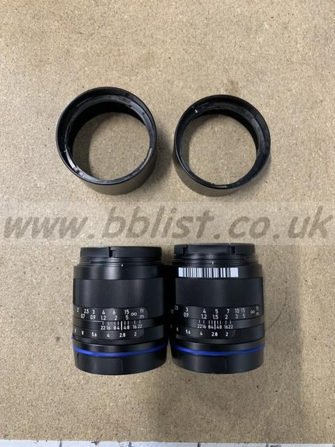 Carl Zeiss Loxia Lenses - 35mm and 50mm - Hardly used
