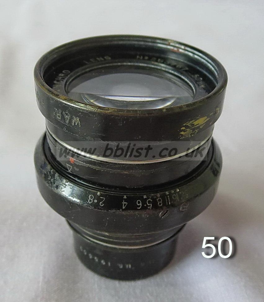 Cooke Panchro Lenses, unmounted, 'War Finish' Cooke Panchro Lenses, unmounted, 'War Finish'