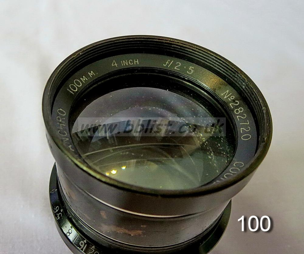 Cooke Panchro Lenses, unmounted, 'War Finish' Cooke Panchro Lenses, unmounted, 'War Finish'