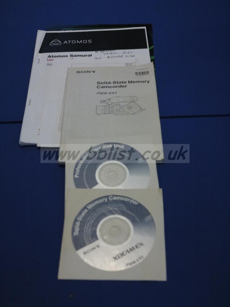 Sony PMW EX3 Camcorder & Samurai recorder Sony PMW EX3 Camcorder & Samurai recorder