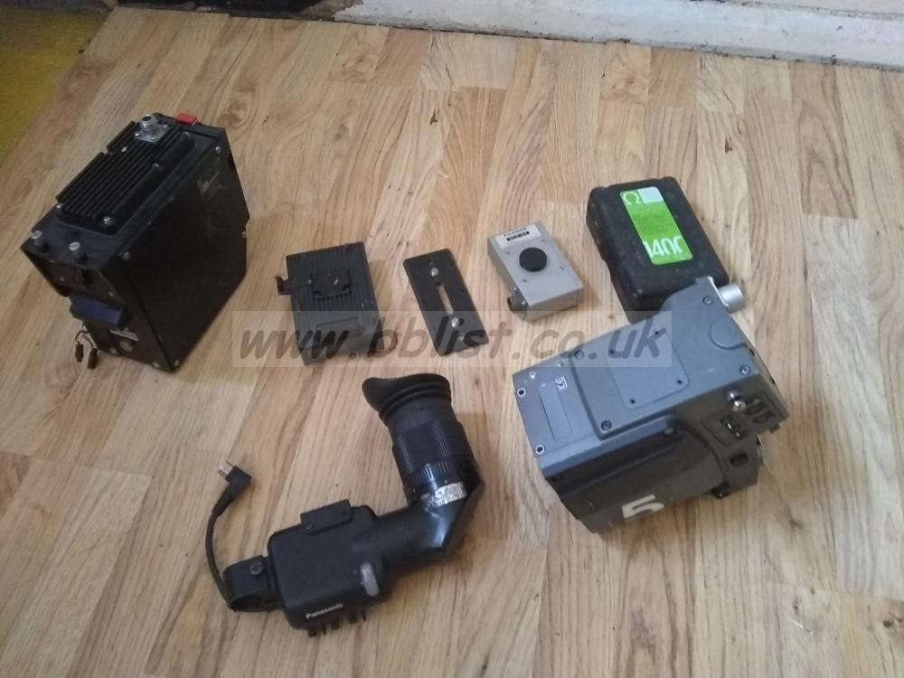 Lot of broadcast camera parts