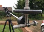 Losmandy Porta-Jib Traveller Fine-tuning weight and vector bar. Camera and tripod head not included in sale.